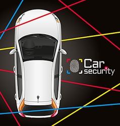 Car laser security vector