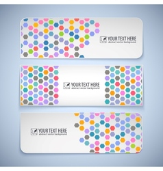 Colorful banners with hexagons vector