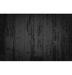 Black wooden textured background vector