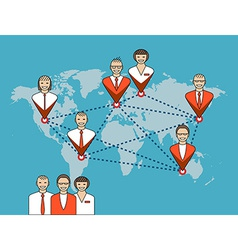 Business concept of management remote service and vector