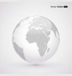 Abstract dotted globe central views of africa vector