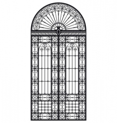 Wrought iron portal vector