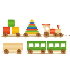 Wooden color toys vector