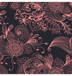Floral ornament seamless vector