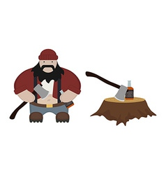 Fat lumberjack no outlines vector