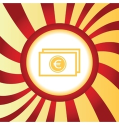 Euro bill abstract icon vector
