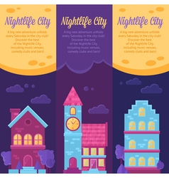 City life urban landscape banners vector