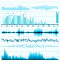 Music sound bar equalizer set vector