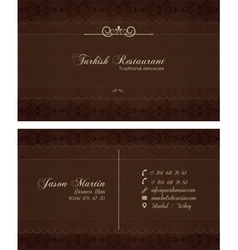 Decorative restaurant business card vector