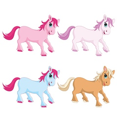 Of colorful pony vector