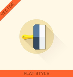 Spatula in a flat style with shadow vector