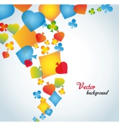 Abstract background with card suits vector