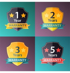 Warranty signs set in halftone texture style vector