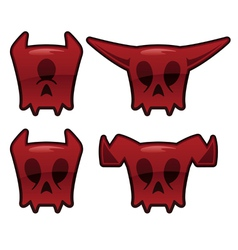 Demon skull icons vector