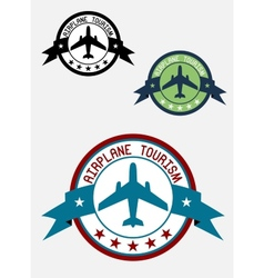 Airplane tour logo vector