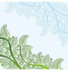 Nature pattern background vector