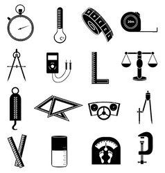 Measure tools icons set vector