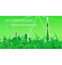 Ecological background vector