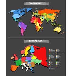 World map template vector