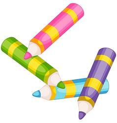 Colorful pencils vector