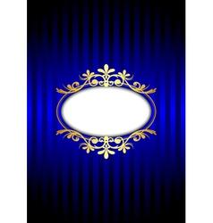 Vintage blue background vector