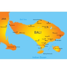 Bali country vector