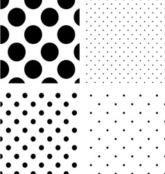 Polka dot seamless pattern set vector