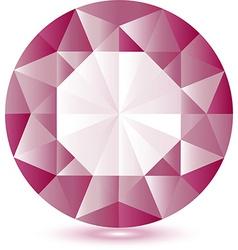 Pink gem vector