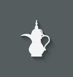 Arabic coffee pot vector
