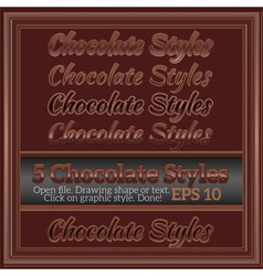 Set of sweet chocolate graphic styles for design vector