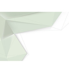 Crystal origami abstract folder template vector