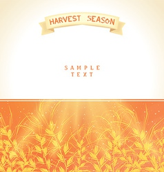 Harvest season vector