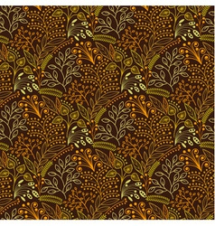 Brown floral scales seamless pattern vector
