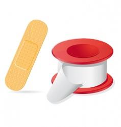 Medical plaster vector