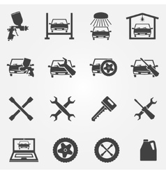 Auto service and repair icon set vector