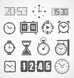 Different slyles of clock collection vector