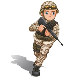 A brave soldier with a gun vector