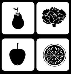 Organic food design vector