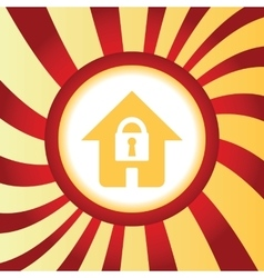 Locked house abstract icon vector