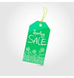 Spring sale tag 01 vector