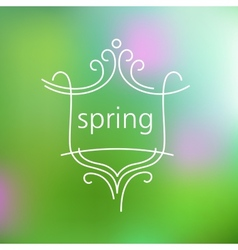 Spring logo and background vector