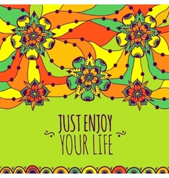 Colorful banner just enjoy your life vector