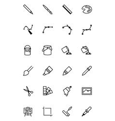 Art design and development icons 1 vector