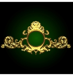 Golden decor vector