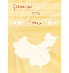 Greetings from china vector