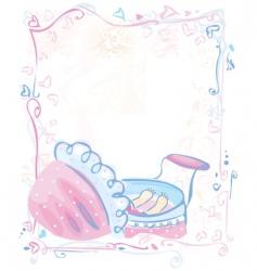 Cute card for baby girl vector