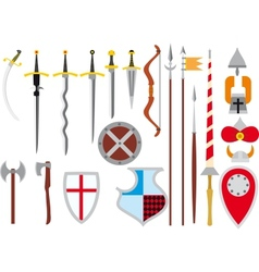 Large set of medieval weapons vector