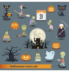 Halloween set 3 vector