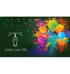 Colorful creative background idea and concept vector