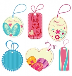 Price tags on easter theme vector